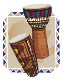 Tambores africanos Imagenes de archivo