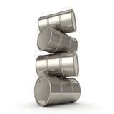 tambores ajustados do cromo da rendição 3D Fotografia de Stock