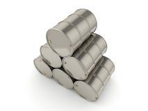 tambores ajustados do cromo da rendição 3D Fotos de Stock Royalty Free