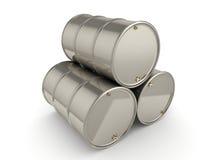 tambores ajustados do cromo da rendição 3D Imagem de Stock Royalty Free