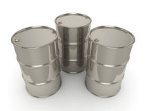 tambores ajustados do cromo da rendição 3D Foto de Stock