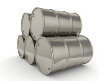 tambores ajustados do cromo da rendição 3D Imagens de Stock
