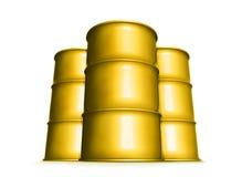 Tambores amarelos Imagens de Stock