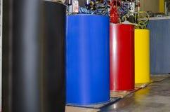 Tambores coloridos da tinta Imagens de Stock