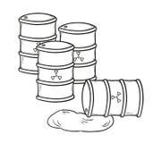Tambores com líquido perigoso ilustração royalty free