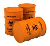 Tambores com substância do biohazard ilustração royalty free