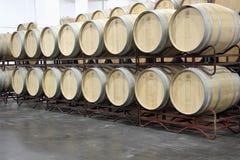 Tambores com vinho em Purcari, Moldova Fotos de Stock Royalty Free
