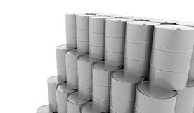 Tambores da gasolina no fundo branco rendido ilustração do vetor