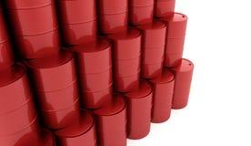 Tambores da gasolina no fundo branco rendido ilustração stock