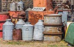Tambores de óleo e bomba de gás Fotografia de Stock Royalty Free