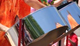 Tambores de acero imágenes de archivo libres de regalías