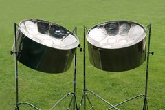 Tambores de acero del metal Imagen de archivo libre de regalías