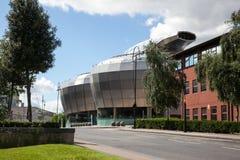Tambores de acero que construyen en Sheffield Imágenes de archivo libres de regalías