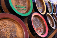 Tambores de cerveja de madeira do bavaria Imagem de Stock Royalty Free