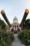 tambores de injetor do cruzador de batalha de 15 polegadas, museu imperial da guerra Foto de Stock