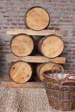 Tambores de madeira Fotos de Stock Royalty Free