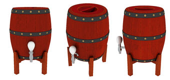 Tambores de madeira Fotografia de Stock Royalty Free