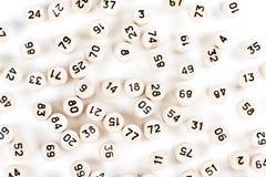 Tambores de madeira com números do lotto Foto de Stock