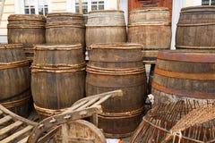 Tambores de madeira velhos fotos de stock royalty free