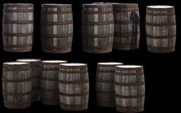 Tambores de madeira velhos fotografia de stock royalty free