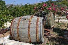 Tambores de madeira velhos Foto de Stock