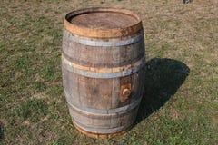 Tambores de madeira velhos em Sófia, Bulgária agosto de 2016 Fotos de Stock Royalty Free