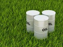 Tambores de petróleo Foto de Stock