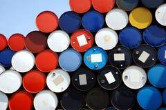 Tambores de petróleo Foto de archivo libre de regalías
