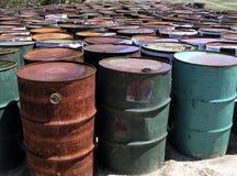 Tambores de petróleo Fotografía de archivo libre de regalías