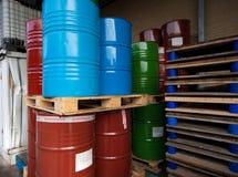 Tambores de petróleo Fotos de Stock Royalty Free