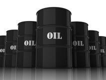 Tambores de petróleo empilhados no formulário do rhomb Ilustração Royalty Free