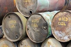 Tambores de petróleo usados Fotografía de archivo libre de regalías