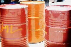 Tambores de petróleo Imágenes de archivo libres de regalías