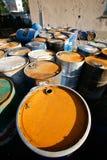 Tambores de petróleo Fotos de Stock