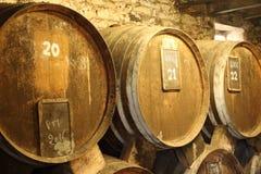 Tambores de vinho Fotos de Stock