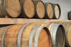 Tambores de vinho Imagem de Stock Royalty Free