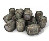 Tambores de vinho ilustração stock