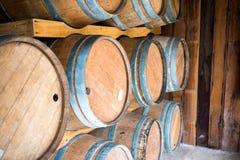 Tambores de vinho Fotografia de Stock