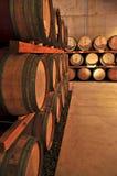 Tambores de vinho Imagem de Stock