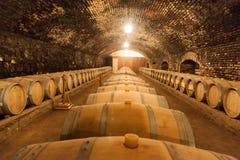 Tambores de vinho do carvalho Fotos de Stock