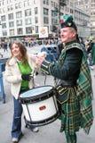 Tambores del desfile del día de Patricks del santo Imágenes de archivo libres de regalías