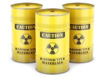 Tambores do desperdício radioativo Imagens de Stock Royalty Free