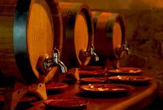Tambores do vinho Imagens de Stock