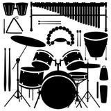 Tambores e instrumentoes de percusión Foto de archivo libre de regalías