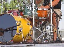 Tambores en el concierto al aire libre Imágenes de archivo libres de regalías