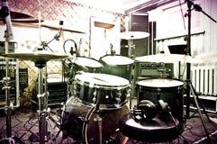 Tambores en el estudio Foto de archivo