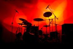 Tambores en luces Fotografía de archivo