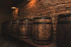 Tambores na adega de vinho Fotos de Stock Royalty Free