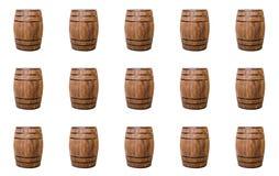 Tambores naturais velhos da produção de teste padrão do boleto do vinho para o design web no branco Imagem de Stock