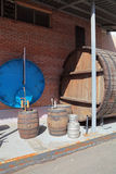 Tambores para a cerveja de envelhecimento Fotografia de Stock